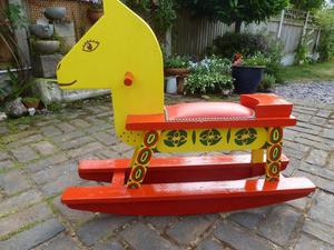 Vintage Child's Hand made Rocking Horse
