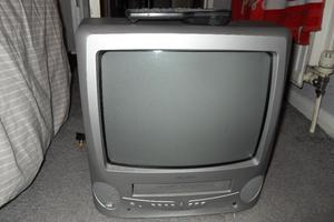 Bush Portable TV BTV18SIL with video player combo and remote control