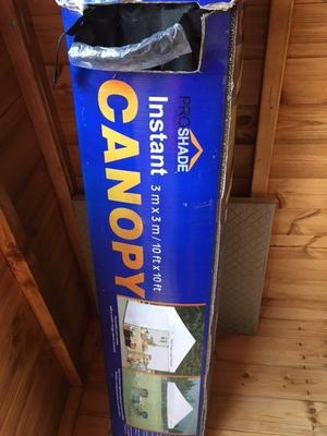 Canopy 3m x 3m ProShade Instant Canopy - Unused and still in Packaging