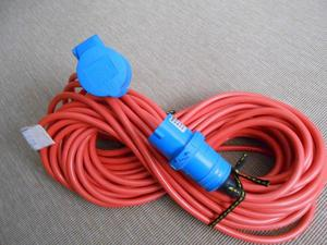 Mains electric hook-up lead 25 metres, 2.5mm core,