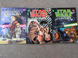 3x Star Wars Manga Books