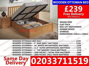 Double and King Size Wooden Ottoman Bed Available MATTRESS Zumbro Falls