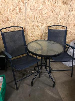 Outdoor table & 2 chairs