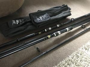 Pair of Dragon Carp Dynamo Fishing Rod 12ft - 2 1/2lbs - Carp Fishing Rods