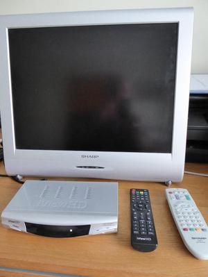 Sharp LC13SH1E TV with iViewHD freeview box
