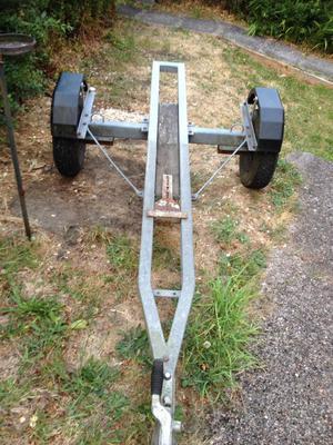 Single galvanised motor bike trailer