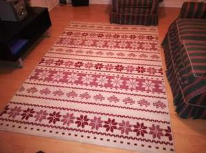large red and team rug for sale