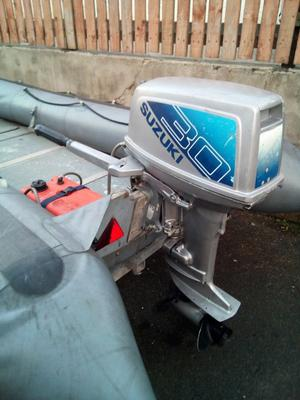 Boat for sale Avon 4mtr rib with 30 HP outboard engine on galvanised factory trailer
