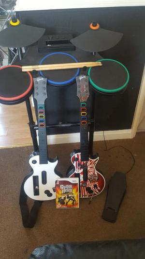 Guitar hero world tour Wii set for sale