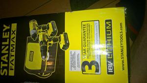STANLEY FATMAX COMBO DRILL SET.BRAND NEW SEALED BOX