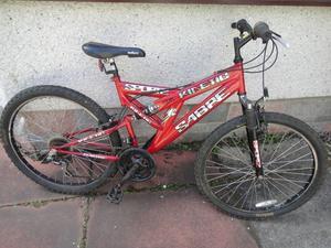 Sabre Kinetic full suspension bike 26 inch wheels, 18 gears, 18 inch frame