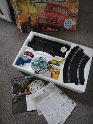 Vintage retro Scalextric Mini Rally cross set  boxed and fully working collectors item