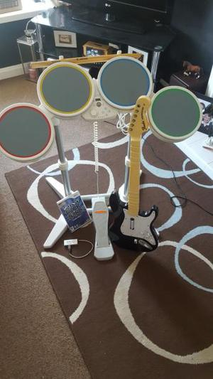 rock band Wii set for sale