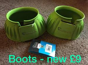 Arma Shires Over Reach Boots XL Size BNWT Lime Green