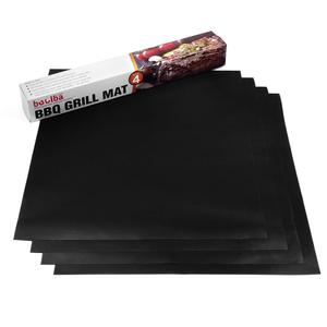 BBQ Grill Mat (Set of 4) by Boolba Great Baking Oven Liner