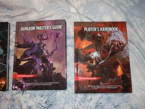 Dungeons and Dragons 5th Edition Books.