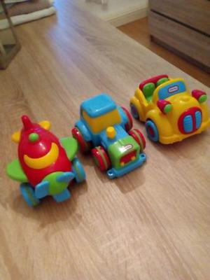 Little Tikes push along vehicles