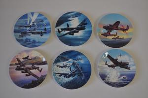 royal worcester decorative plates set of 6 dambusters
