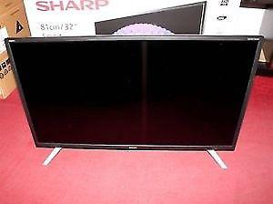 """32"""" SHARP LED SMART WIFI TV 10 MONTH OLD WITH BOX CAN DELIVER"""