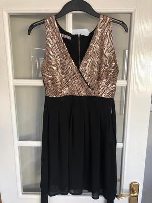 Black and gold sequin dress size S