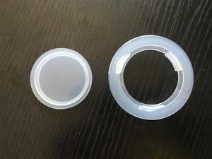 Patio Umbrella Hole Ring Cap Plug Set of 2, Clear Plastic, 2