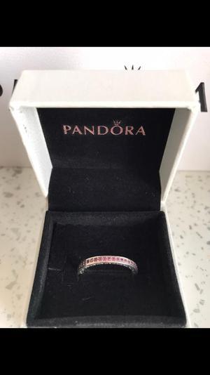 Pandora ring (pink radiant hearts)