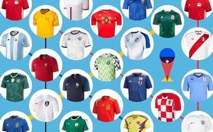 World Cup Football Shirts  - England Brazil France Belgium Egypt Germany - All teams