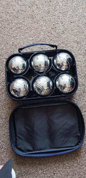 set of 6 stainless steel Boules