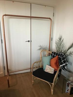 Large Copper Clothes Rail