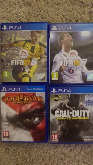PS4 Games - Fifa, God of War, Call of Duty