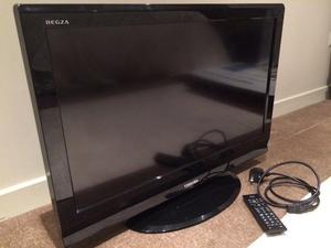 toshiba 32 inch hd tv with built in freeview