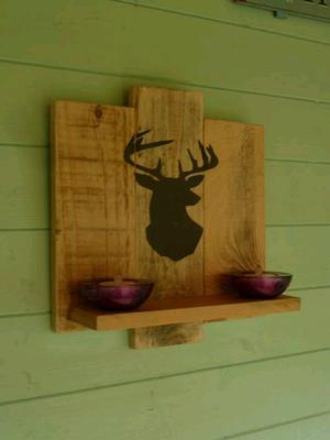 Hand made rustic floating shelve