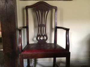 Matching set of 6 antique Dining Chairs including 2 carvers