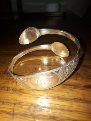 Uuique Solid Silver Antique Bracelet