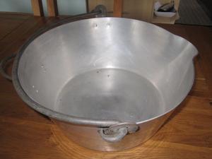 "VINTAGE LARGE 16"" ALUMINIUM jam pan preserve pot kitchenalia garden pot planter"