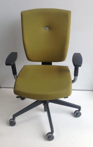 Green Adjustable Office/Computer Chair with Arms