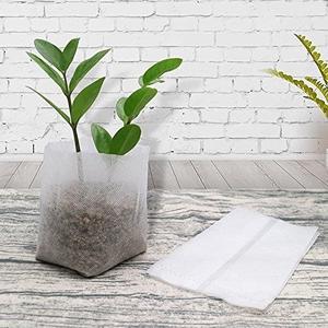 KINGLAKE 200 Pcs Biodegradable Non-woven Plant Seedling Bags