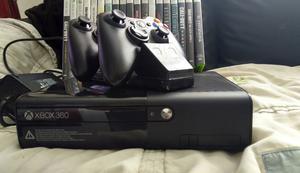 Microsoft Xbox 360 E 320 GB Black Console (PAL) and games