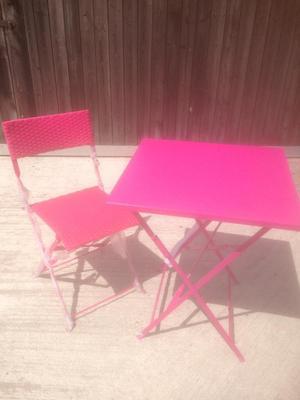 Pink Bistro Set