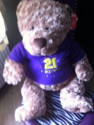 BIRTHDAY 21 TEDDY BEAR