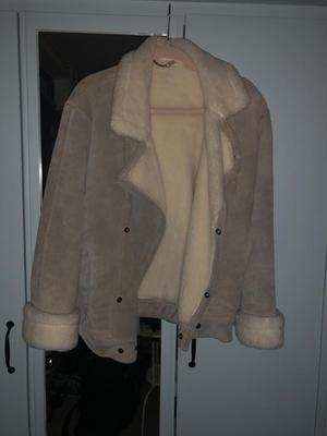Beige Sheepskin Vintage Jacket