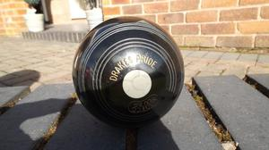 Drakes Pride Crown Green Bowls Jack in very good condition.