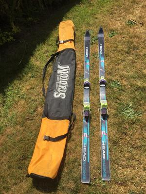 Head Racing skis with carry bag