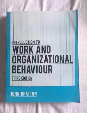 Introduction to work and organisational behaviour