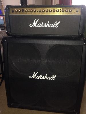 Marshall Cab 4x12 with Amp head unit Valvestate VS100h