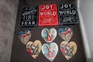 NEW CARBOOT BUNDLE RESALE JOBLOT WOODEN GLITTER CHRISTMAS