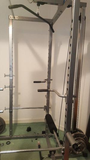 Ryno power rack with pulley attachment (upper and lower).