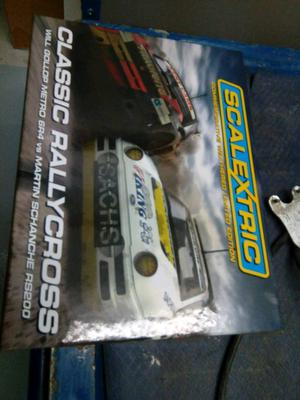 Brand new scalextric rally cars limited edition set