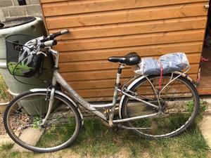 Ladies 3 Speed cycle with ladies helmet no use for it do to retirement v.g.c open for offers