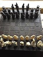 Oriental Chess Set and Board - Excellent Condition